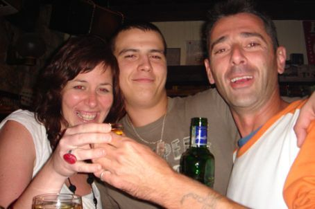 Meg with some of the lovely croatian boys we met in Hvar