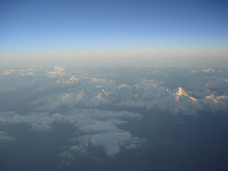 View from plane of the French Alps (I assume?) - beautiful!
