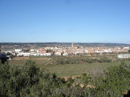 View of Gandesa from wee chapel on the hill