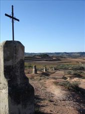 Some of the 12 crosses leading up to the wee chapel called