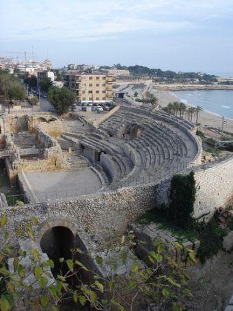 Restored roman amphitheatre where gladiators fought, Tarragona