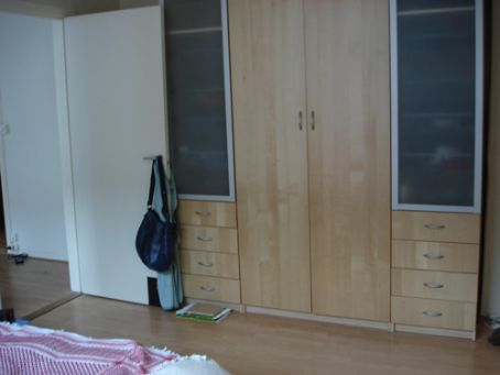 Our massive wardrobe, in which our belongings are rattling around....
