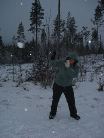 Me losing a snowball fight against Mark...