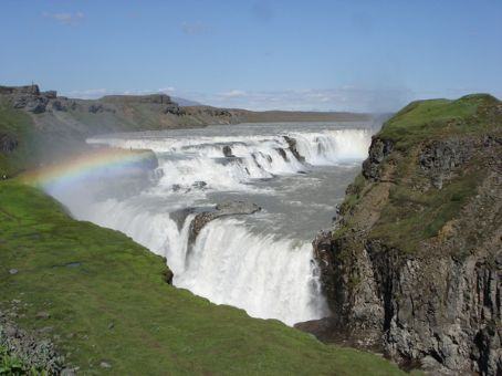 Gulfoss - total of 32m tall in 2 steps, SW Iceland