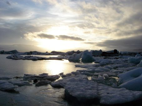 Jokulsarlon.... lake at base of the glacier with icebergs - one of the highlights!
