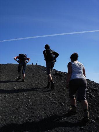 Walking up Hverfjell crater (140 deep, 1 km around), Lake Myvatn, NE Iceland