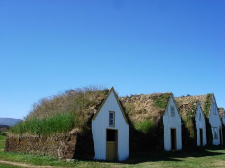 Old sod houses at Glaumbaer, N Iceland
