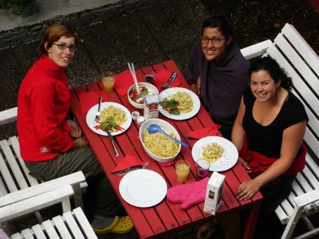 My birthday lunch - Heike, Isis and me