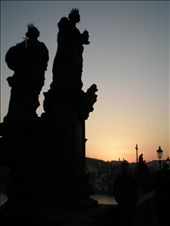 Sunset over the Charles bridge in Prague.: by raz-and-laz, Views[132]