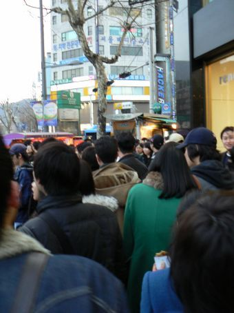 Typical sideway in downtown core of Seoul