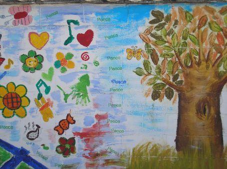 One of many murals in Daechuri
