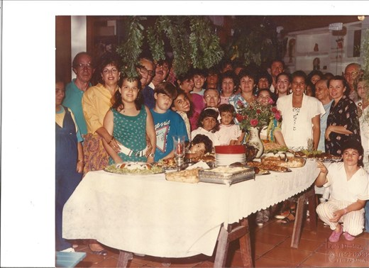 Family dinner - best memories from childhood. I'm the one behind the flowers