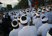 Nyepi the Balinese day of silence procession to prayer: by remainingfree, Views[394]