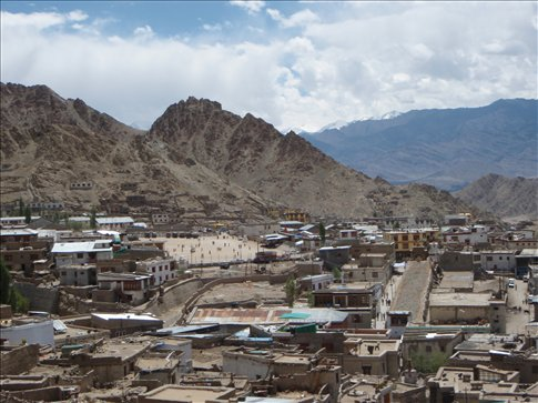 Leh as seen from the palace