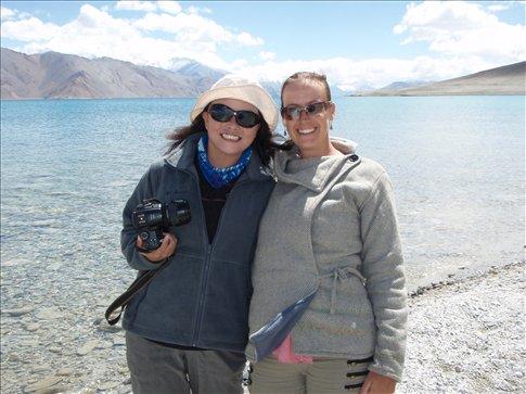 Dada and me at Pangong Lake