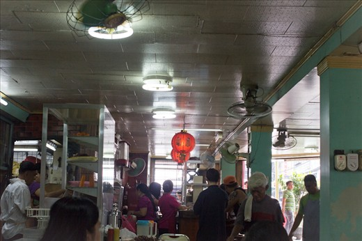 A pre-war Chinese restaurant. The place is called Delicious Restaurant.