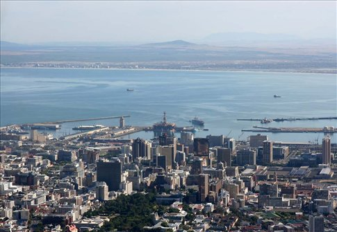 View of the city centre & bay from the top