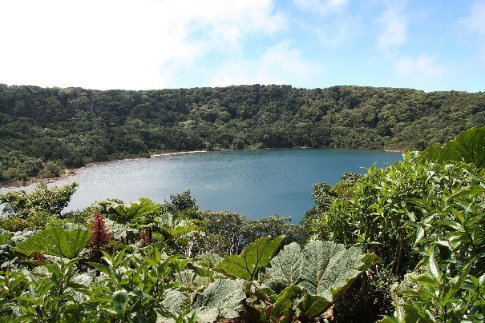 lake in volcano crater