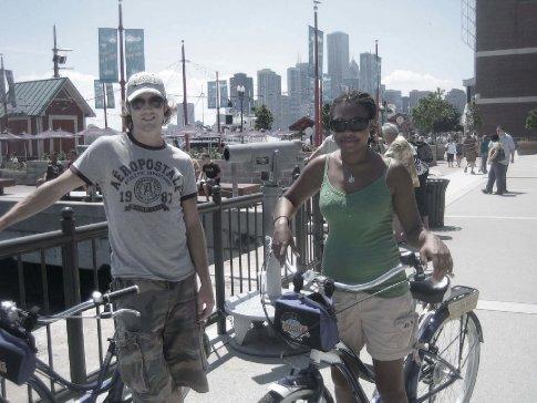 biking through chi town
