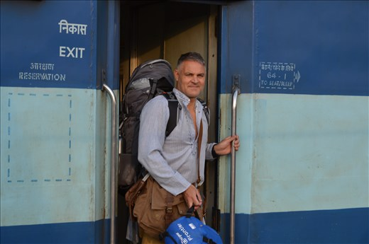 Exiting my first India train Journey