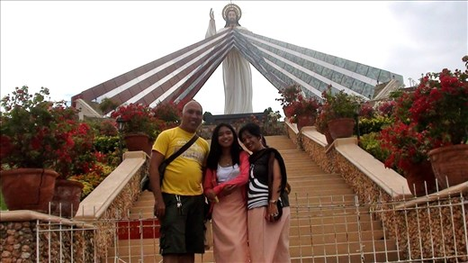 My family at Divine Mercy Shrine in El Salvador City, Philippines
