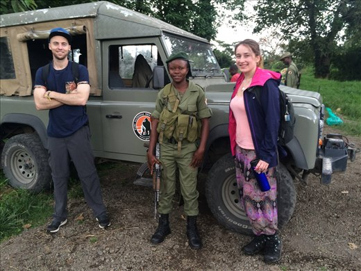 With our guard Angie after the Gorilla Trek