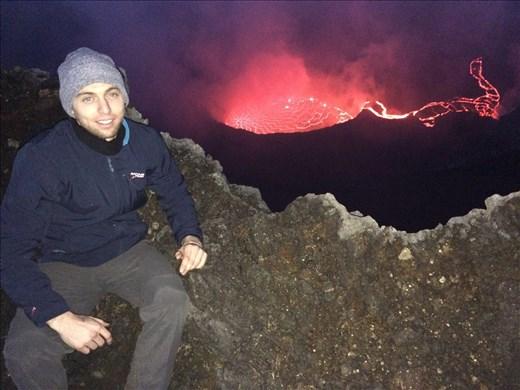 Mt Nyiragongo at night