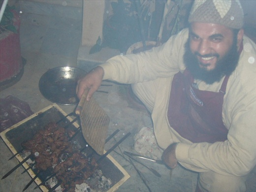 cooking kababs