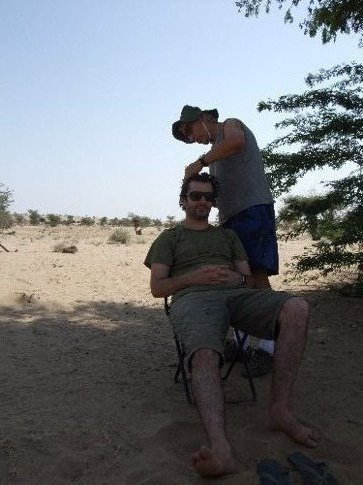 Thar desert haircut