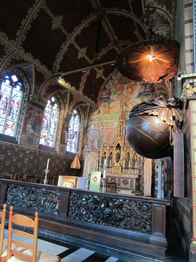 spectacular pulpit in the Chapel of the Holy Blood