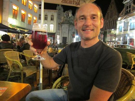 Belgian beer makes Bruce happy