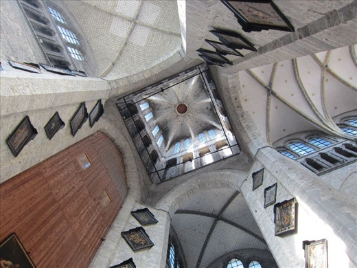 Saint Bavo Cathedral's extremely tall tower