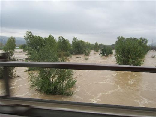 Leaving La Spezia while it was flooding - 5 hour detour to Genoa north via Palma