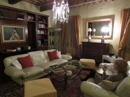 The library in our beautiful Tuscan villa near Lucca. sigh