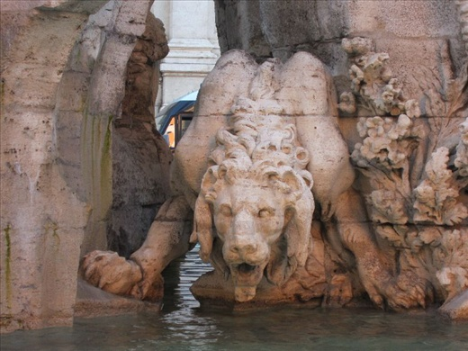 Bernini's Fontana dei Quattro Fiumi in Piazza Navona