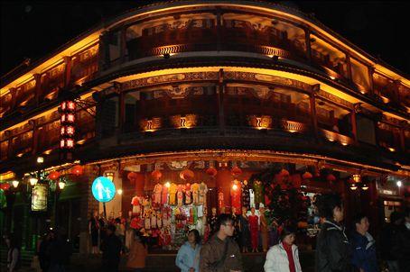 OLD DALI ARCHITECTURE BULGES WITH TOURIST SHOPS
