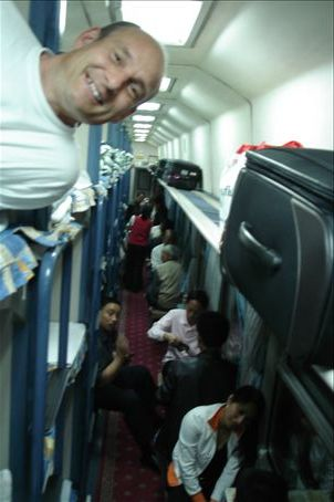HARD SLEEPER COMPARTMENTS ON THE TRAIN - NOT TOO BAD!