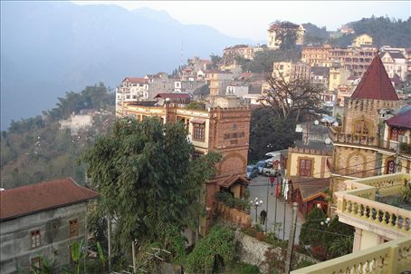 Sapa perched upon the hilltops