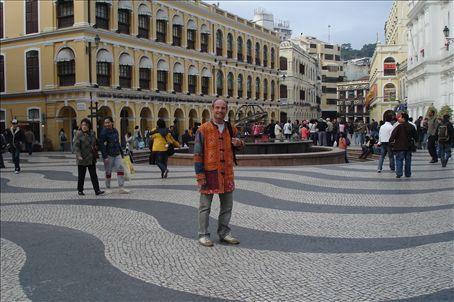 Bruce in Senado Square (Lao Jacket nice, eh?)