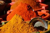 Spices, produce market, Mandalay, Myanmar: by robbiesue, Views[703]