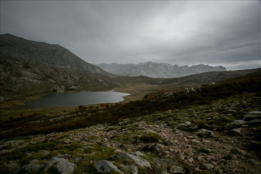 Lac du ninu, elevation 1743 m and the marshy valley