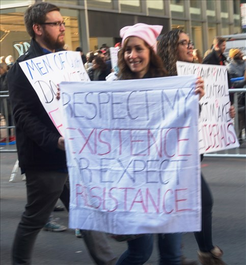 At the NYC Women's March 1