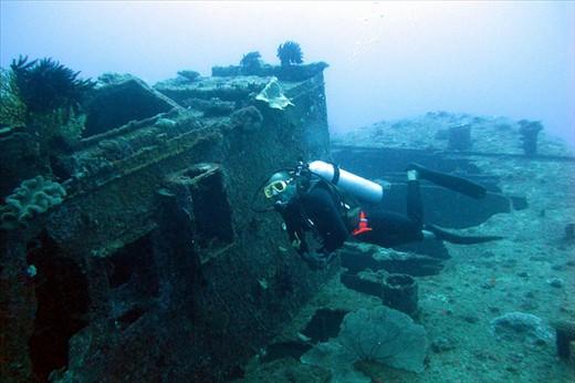 Semele Federesen is a popular dive wreck in Port Vila