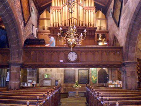 Organ loft from the altarof Childwall church