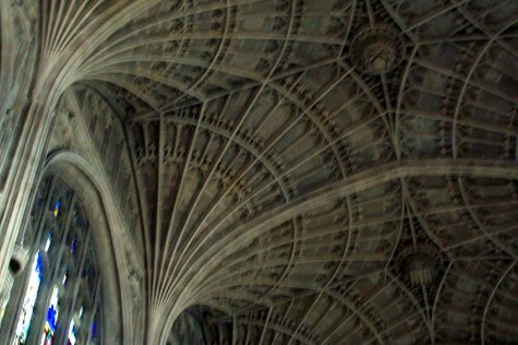 Vaulted ceiling of chapel