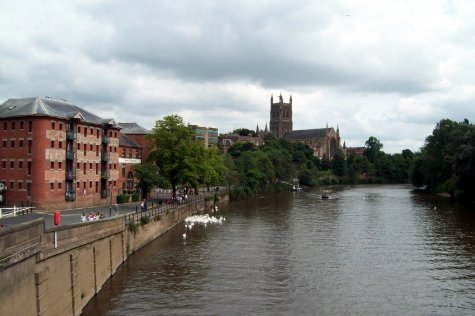 River Wye and Worcester cathedral