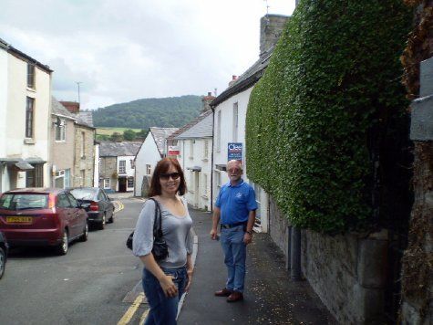 Sam and Ron in Hay-on-Wye