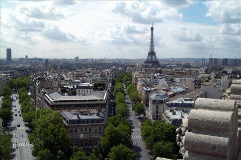 Paris skyline from Arc de Triumph