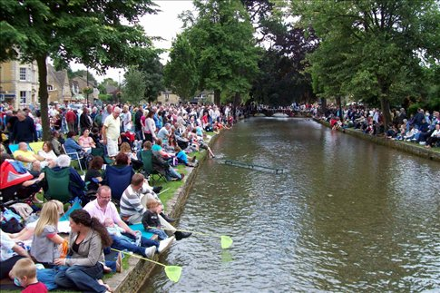Bourton on the Water on Bank Holiday!