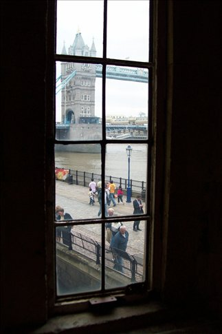 Tower Bridge from inside the Tower of London